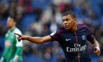 Mbappe's two goals earned the Parisians three points. AFP