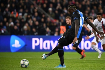 Diagne sanctioned by Brugge after PSG penalty controversy. AFP