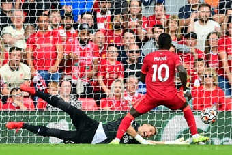 African players in Europe: 100-goal Mane punishes Palace again. AFP