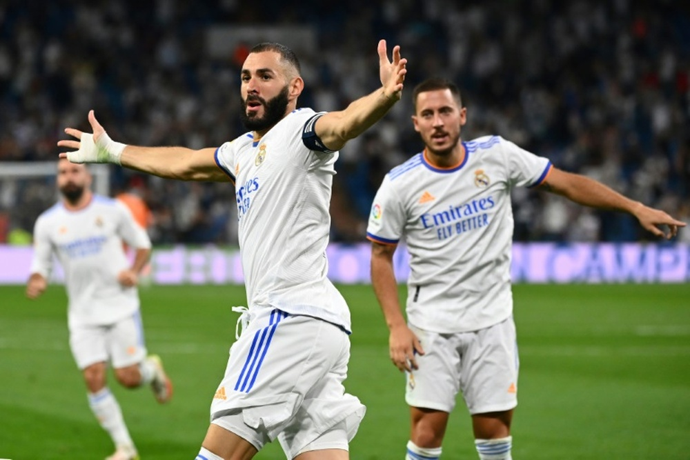 Benzema has already registers five goals and four assists in four games. AFP