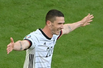 Robin Gosens had his name chanted around the Allianz Arena against Portugal. AFP