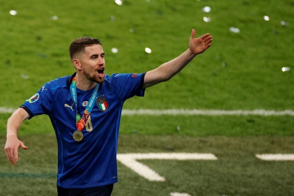 Jorginho has had a terrific summer winning the Champions League and the Euros. AFP