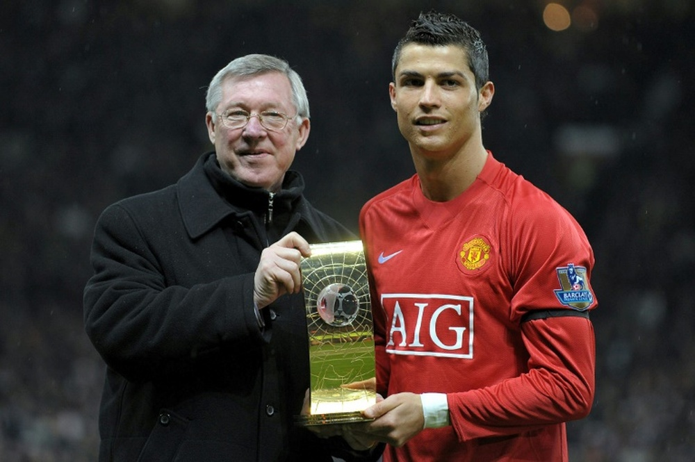 Cristiano highlighted the importance of Alex Ferguson in his return to Man United. AFP