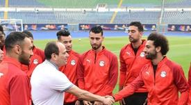 Salah returned for Egypt on Sunday. AFP