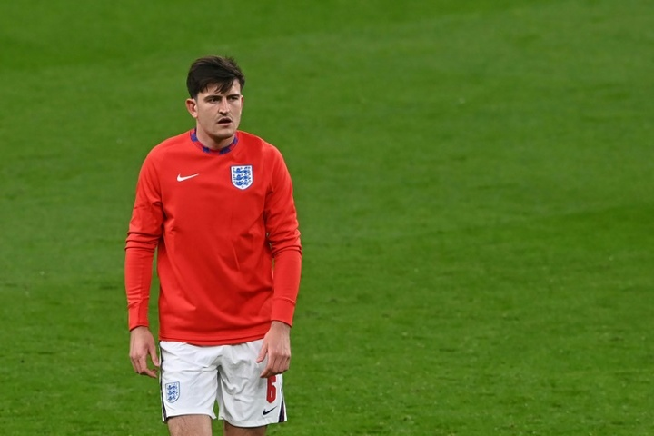 Harry Maguire is yet to feature at Euro 2020 due to an ankle injury. AFP