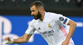 Zidane has played down Benzema's comments to Mendy about Vinicius. AFP