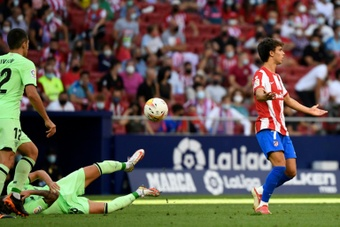 Joao Felix was sent off in Atletico Madrid's goalless draw.AFP