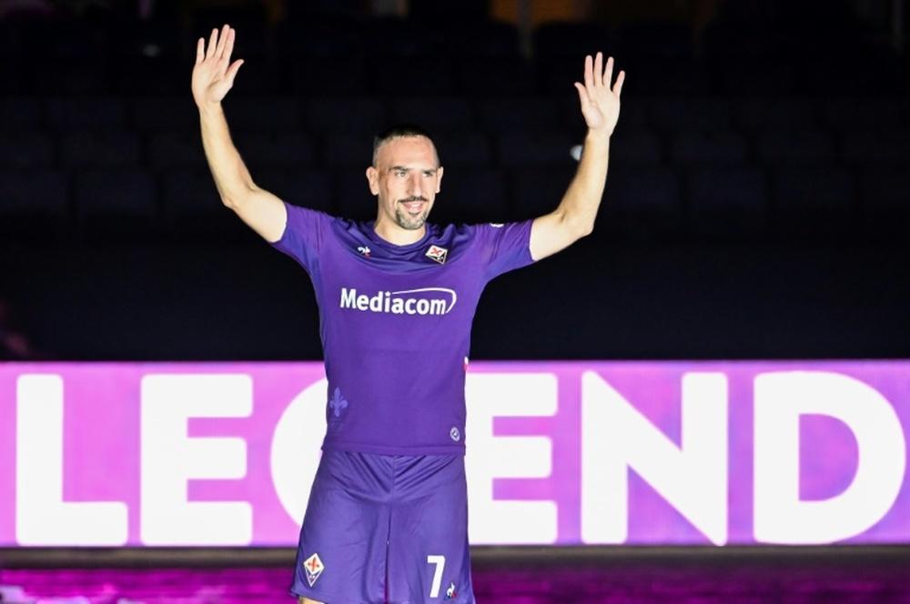 Fiorentina unveiled Franck Ribery in 2019. AFP