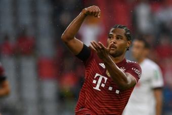 Serge Gnabry scored as Bayern beat Cologne 3-2. AFP