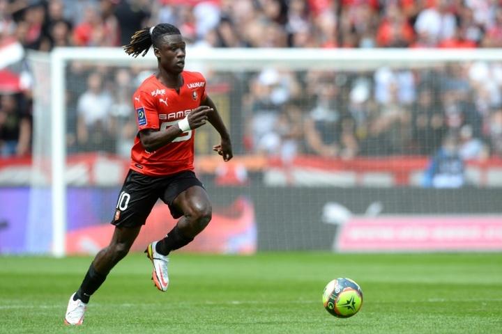 Eduardo Camavinga made his senior Rennes debut in April 2019. AFP