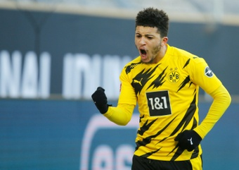 Sancho could make his debut for Man United against Leeds. AFP