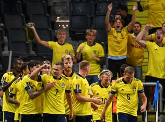 Viktor Claesson scored the winner as Sweden beat Spain in 2022 World Cup qualifying. AFP