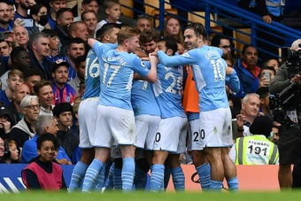 Manchester City grab the win at Stamford Bridge. AFP
