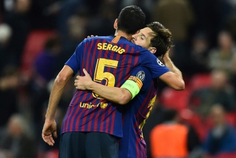 Barca captain Busquets 'trying to digest' Messi departure. AFP