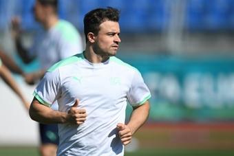 Lyon have signed Xherdan Shaqiri from Liverpool. AFP