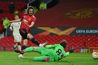 Cavani struck twice in United's thrashing of Roma. AFP