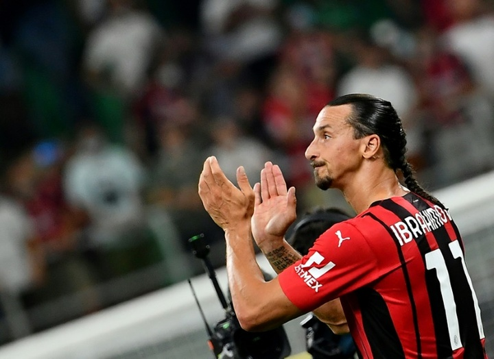 Ibrahimovic out of Milan's Champions League return at Liverpool. AFP