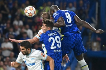 Lukaku scores again for Chelsea as they get the first Champions League win of the season. AFP