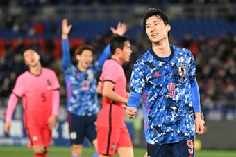 Japan beat South Korea 3-0 in an international friendly. AFP