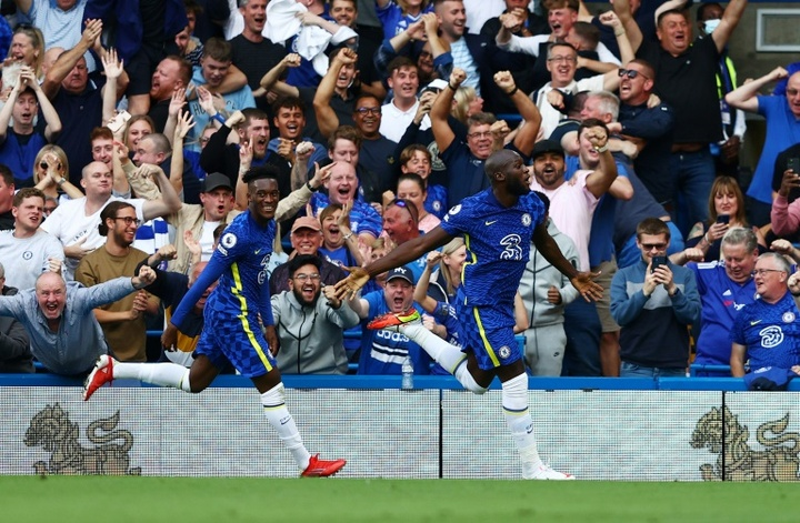 Lukaku gave Chelsea the three points with his first couple of goals at Stamford Bridge. AFP