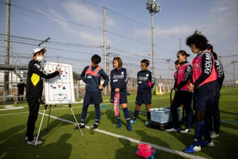 Women's football is coming to Japan. AFP