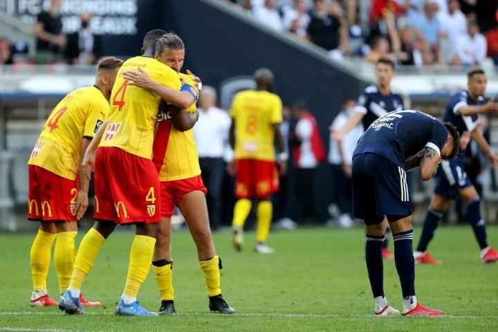 Lens enfonce Bordeaux au terme d'un scénario fou. afp