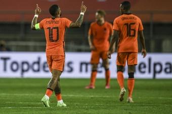 Depay évite une défaite des Pays-Bas face à l'Ecosse. afp