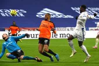 Dembélé retrouve enfin la lumière à Lyon. AFP
