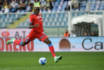 Naples et Osimhen volent en tête de la Serie A. afp
