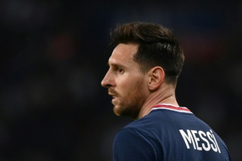 Lionel Messi, blessé, absent avec le Paris SG contre Montpellier. afp