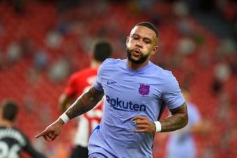Memphis Depay vole déjà à la rescousse du Barça. AFP