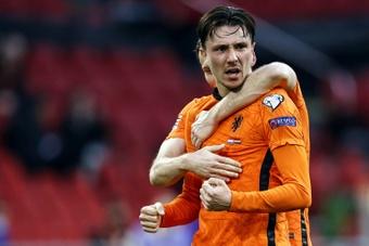 Les Oranje réagissent face à la Lettonie. afp