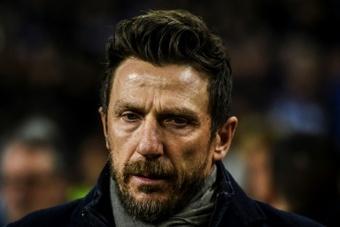 Di Francesco écarté de Vérone après seulement trois matches. AFP