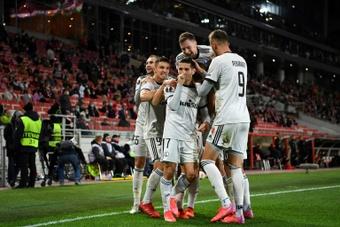 Vainqueur à Moscou, le Legia Varsovie inaugure l'Europa League. AFP