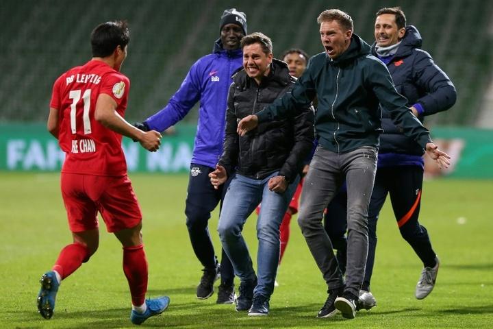 Leipzig qualifié pour la finale de Coupe d'Allemagne. AFP