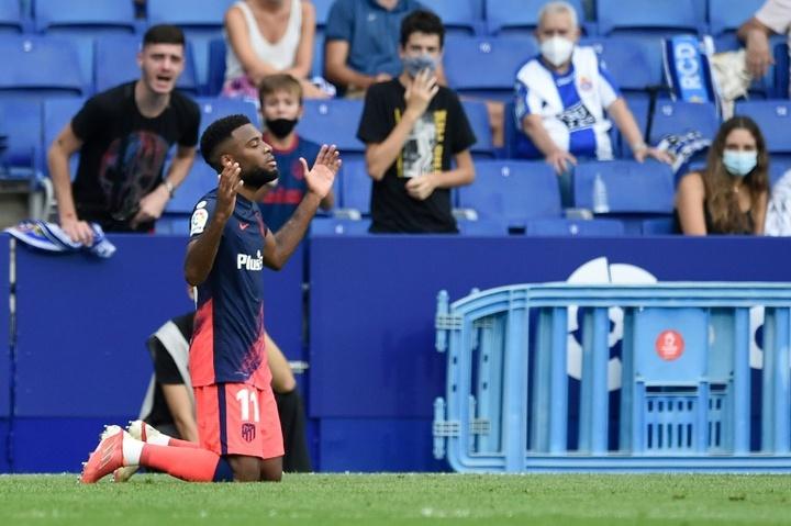 Lemar offre la victoire à l'Atletico Madrid sur le gong. afp