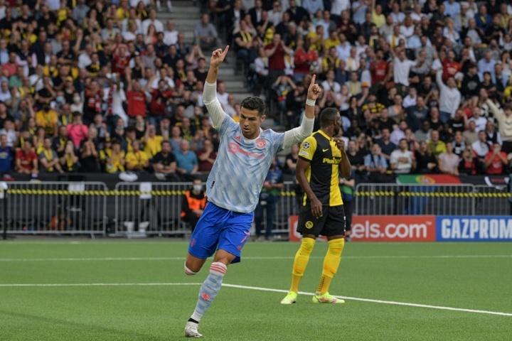 Ronaldo buteur avec United, mais défait face à Berne. afp