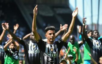 La joie des joueurs d'Angers. AFP