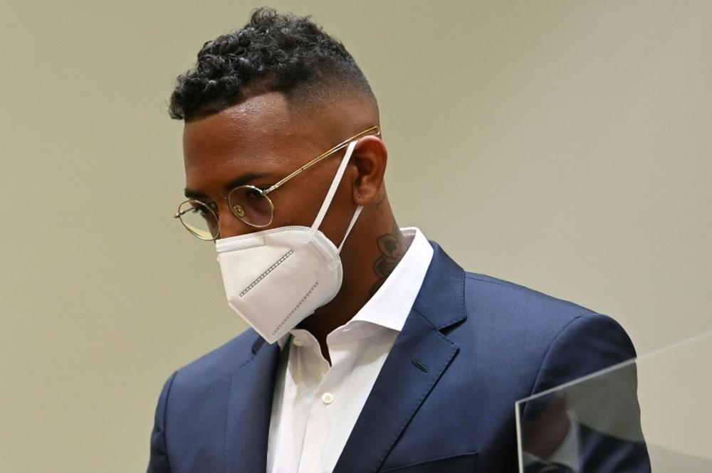 Jérôme Boateng réfute les accusions de violence sur son ex-compagne. AFP