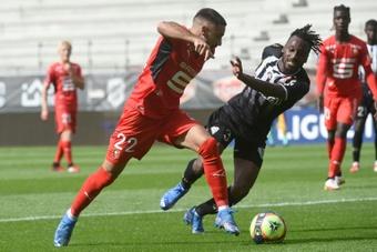 Romain Del Castillo lors du match de Ligue 1 contre Angers. AFP