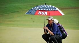 En la imagen un registro de la golfista estadounidense Brittany Lincicome, quien se convirtió este jueves en la sexta mujer que disputa un torneo del circuito profesional masculino (PGA). EFE/Archivo