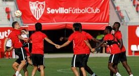 El Sevilla prepara la visita del Madrid. EFE/Archivo