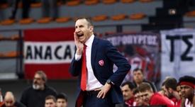 El entrenador del Olympiacos, David Blatt. EFE/Archivo