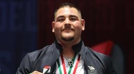 En la imagen un registro del boxeador mexicano-estadounidense Andy Ruíz, campeón mundial de peso pesado. EFE/Mario Guzmán/Archivo