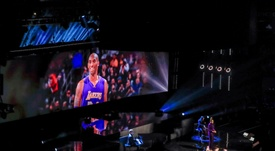 Jennifer Hudson performs during a tribute to Los Angeles Lakers guard Kobe Bryant, before the start of the NBA All Star game, between Team Lebron and Team Giannis, at the United Center in Chicago (Illinois, USA) EFE/Nuccio Dinuzzo