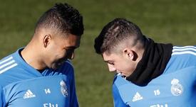Admiración mutua entre Casemiro y Valverde. EFE/Archivo