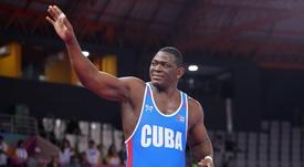 En la imagen, el luchador grecorromano cubano Mijaín López. EFE/Martín Alipaz/Archivo