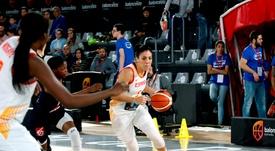 La base de la selección española de baloncesto,Cristina Ouviña (d). EFE/ Xavi Ramos/Archivo