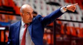 El técnico del Valencia Basket, Jaume Ponsarnau. EFE/Miguel Ángel Polo