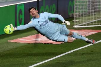 Courtois, un seguro de vida en el Real Madrid. EFE